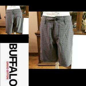 Size 30 Buffalo David Bitton Plaid Shorts
